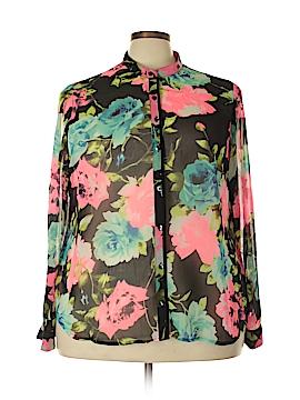 Eloquii Long Sleeve Button-Down Shirt Size 22 (Plus)