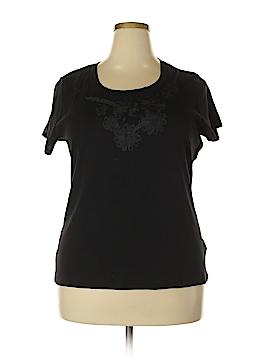 August Silk Short Sleeve Top Size XXL