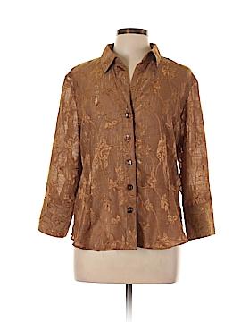 Coldwater Creek Long Sleeve Button-Down Shirt Size L (Petite)