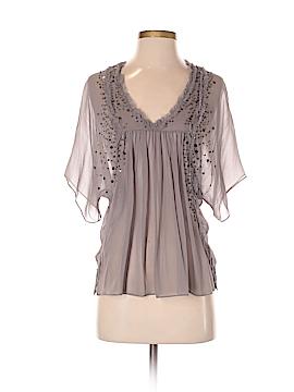 Saivana Short Sleeve Silk Top Size S