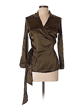 Diane von Furstenberg 3/4 Sleeve Silk Top Size 10