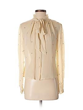 3.1 Phillip Lim Long Sleeve Silk Top Size 0