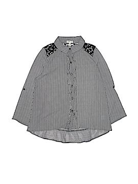 Monteau Girl Long Sleeve Button-Down Shirt Size 14