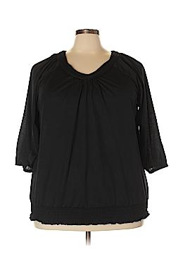 Mary McFadden 3/4 Sleeve Top Size 4X (Plus)