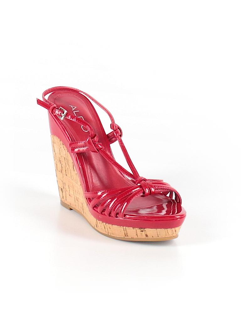 9f849883b3a9 Aldo Solid Red Wedges Size 36 (EU) - 69% off