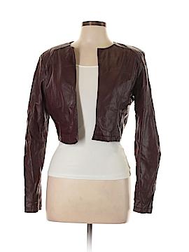 Charlotte Russe Women Faux Leather Jacket Size L