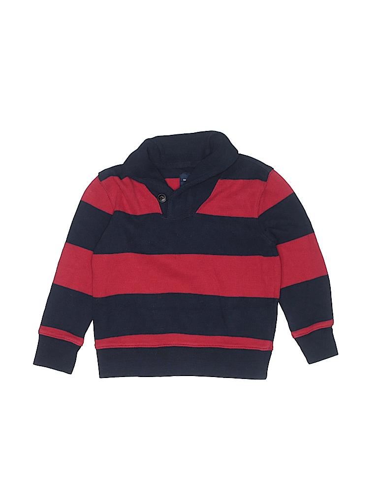 f4987e84634 Gap Kids 100% Cotton Stripes Color Block Red Pullover Sweater Size 4 ...