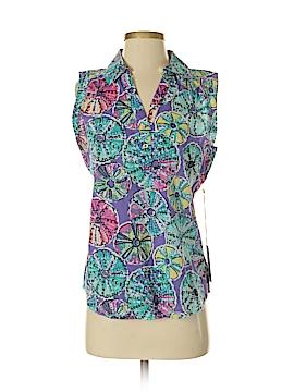 Caribbean Joe Sleeveless Button-Down Shirt Size S