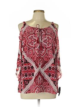 INC International Concepts 3/4 Sleeve Blouse Size 0X (Plus)