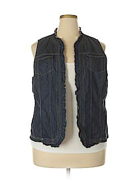 Cj Banks Denim Vest Size 1X (Plus)
