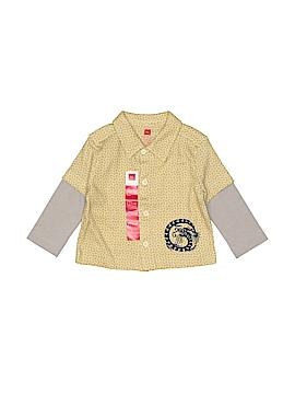 Tea Long Sleeve Button-Down Shirt Size 6-12 mo
