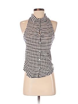 LA Made Sleeveless Button-Down Shirt Size XS