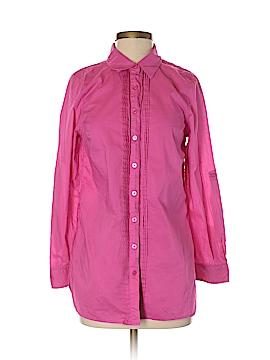 Isaac Mizrahi LIVE! Long Sleeve Button-Down Shirt Size S