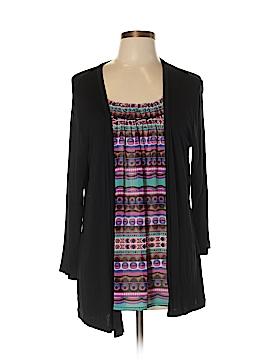 August Silk Long Sleeve Top Size XL