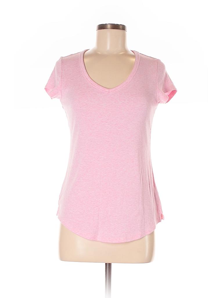 Cynthia rowley for t j maxx solid light pink short sleeve for Tj maxx t shirts