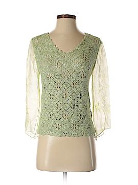 Cynthia Steffe 3/4 Sleeve Silk Top Size XS