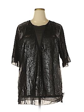 Melissa McCarthy Seven7 Short Sleeve Blouse Size 0X (Plus)