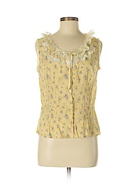 Hunt Club Sleeveless Button-Down Shirt Size 6