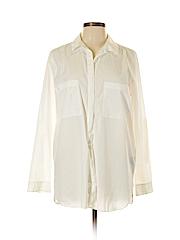 Mossimo Women Long Sleeve Button-Down Shirt Size L
