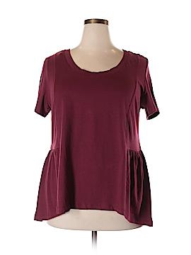 American Rag Cie Short Sleeve Top Size 1X (Plus)