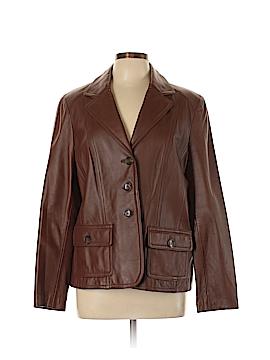 Kasper Leather Jacket Size XL