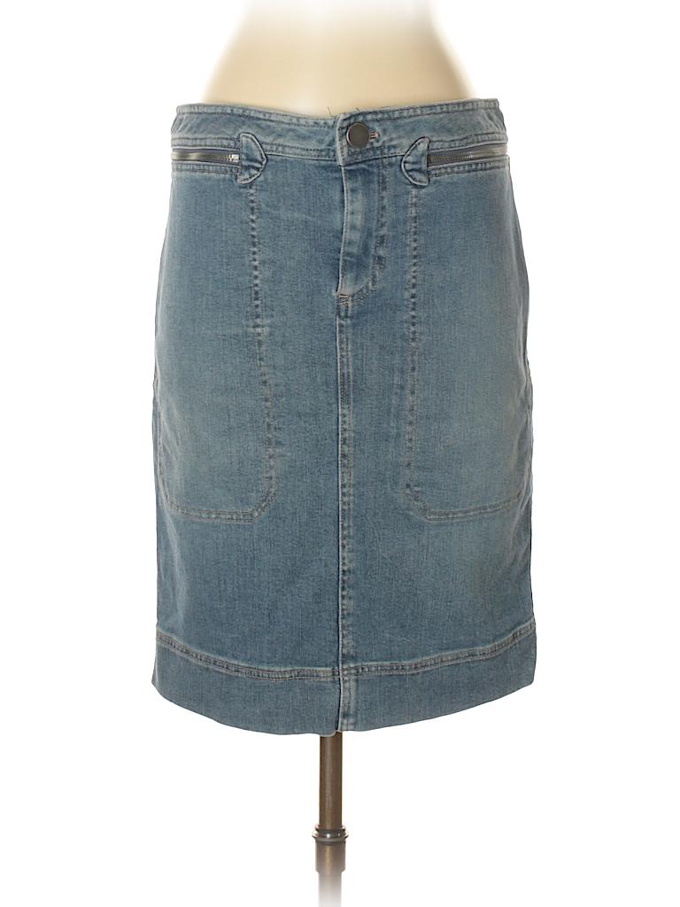 e6aca7c63 Marc by Marc Jacobs Solid Blue Denim Skirt Size 6 - 80% off   thredUP