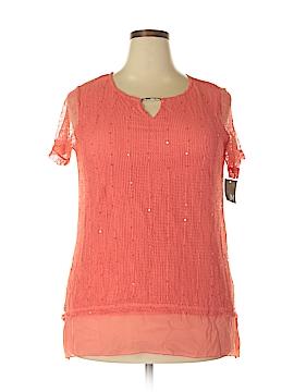 JM Collection Short Sleeve Blouse Size 0X (Plus)