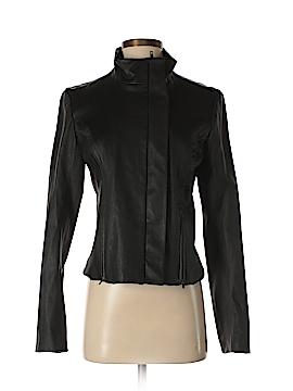 Theory Leather Jacket Size 8