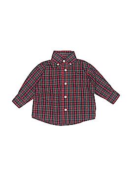 Vive La Fete Long Sleeve Button-Down Shirt Size 12 mo