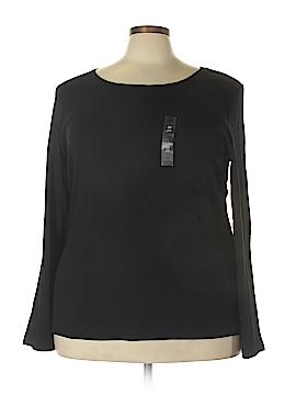 Karen Scott Long Sleeve T-Shirt Size 3X (Plus)