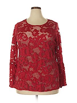 INC International Concepts Long Sleeve Blouse Size 1X (Plus)
