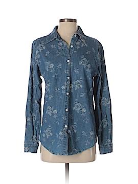 Gloria Vanderbilt Long Sleeve Button-Down Shirt Size S