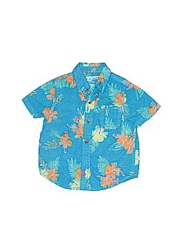 Arizona Jean Company Short Sleeve Button-Down Shirt Size 9 mo