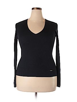 Tory Burch Silk Pullover Sweater Size XL