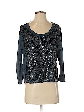 Barneys New York 3/4 Sleeve Silk Top Size S