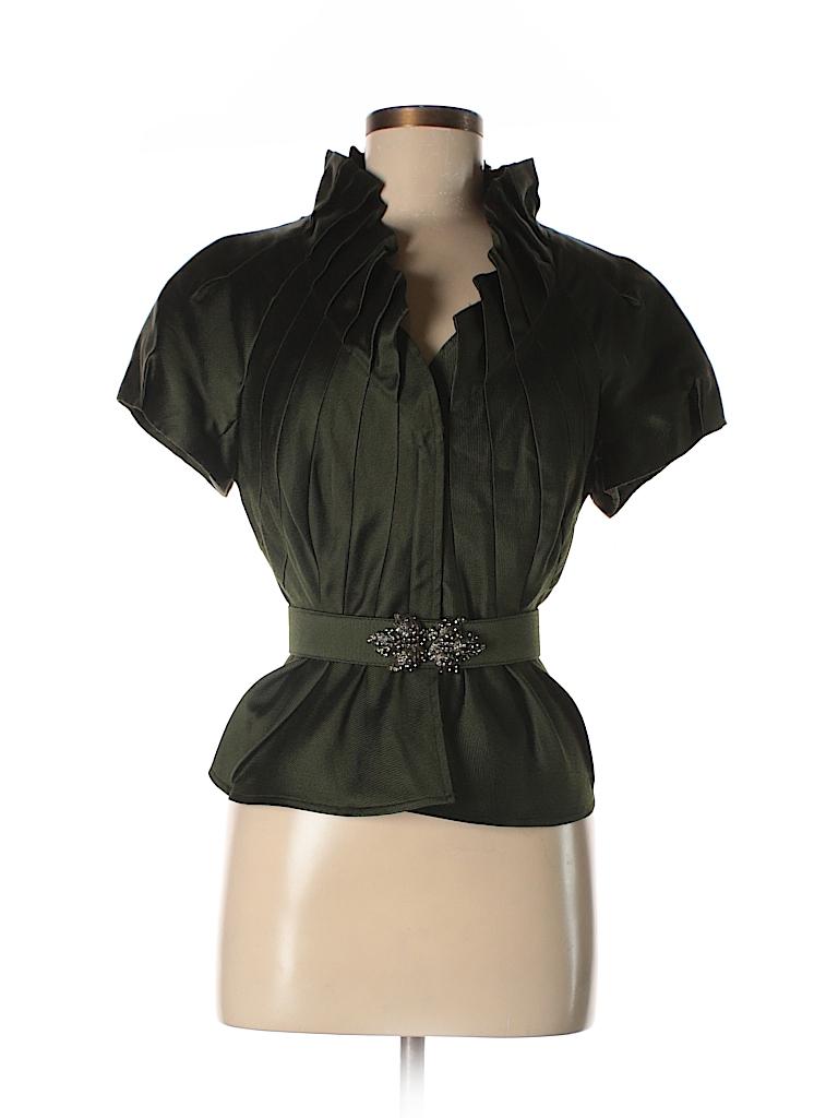 Kay Unger Women Short Sleeve Blouse Size 12