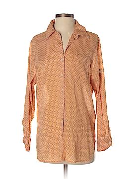 Ellen Tracy Long Sleeve Button-Down Shirt Size S