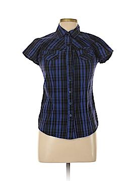 Abbey Dawn Short Sleeve Button-Down Shirt Size L