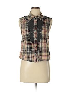 Gimmicks by BKE Sleeveless Button-Down Shirt Size M