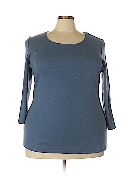 Karen Scott Long Sleeve T-Shirt Size 2X (Plus)