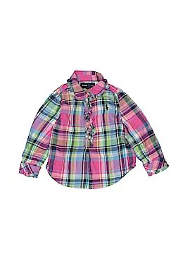 Ralph Lauren Long Sleeve Button-Down Shirt Size 12 mo