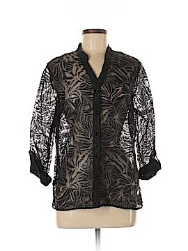 Laura Scott 3/4 Sleeve Button-Down Shirt Size M