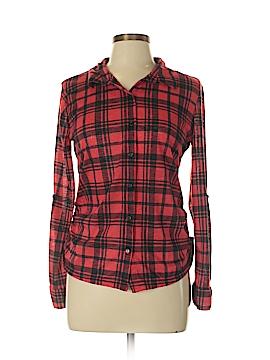 No Boundaries Long Sleeve Button-Down Shirt Size L
