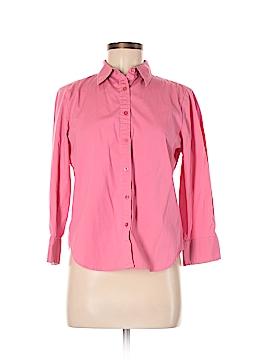 Jones New York 3/4 Sleeve Button-Down Shirt Size M (Petite)