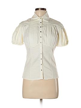Catherine Malandrino Short Sleeve Button-Down Shirt Size 6