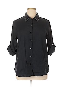 Kaktus 3/4 Sleeve Button-Down Shirt Size XL
