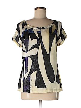 Roberto Cavalli Short Sleeve Silk Top Size 44 (IT)