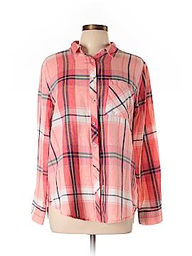 Arizona Jean Company Long Sleeve Button-Down Shirt Size L