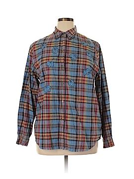 Victoria Jones Long Sleeve Button-Down Shirt Size XL