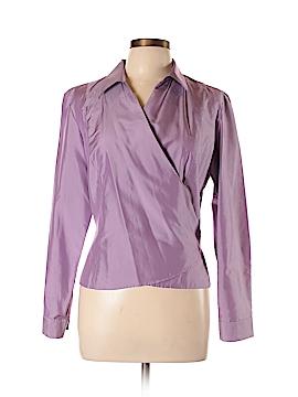 Ann Taylor Long Sleeve Silk Top Size 12